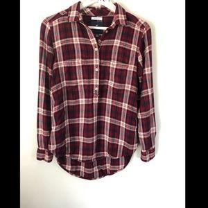 American Eagle Flannel - Half Button Down Top